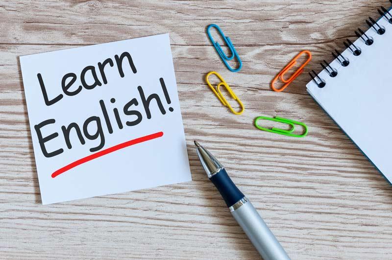 Imagem escrito Learn English